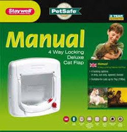 Staywell manual 4way locking catflap