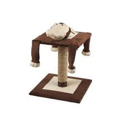monkey cat scratching post