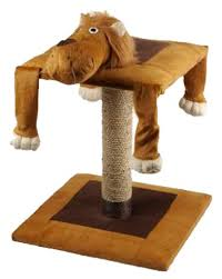 lion cat scratching post