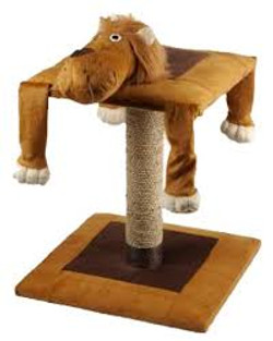 lion cat scratching post