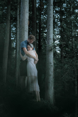 Couple Forest Hug