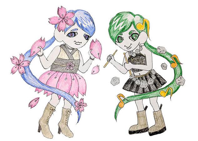 11_ヒヨリ(左)&マキ(右)二人合わせて「オッダーズ」