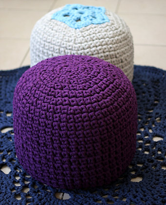 Purple pouf