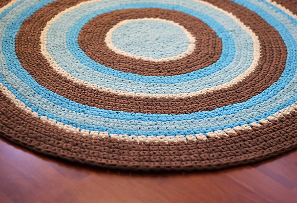 Cotton yarn crochet carpet