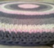 שטיח סרוג בעבודת יד מחוטי טריקו