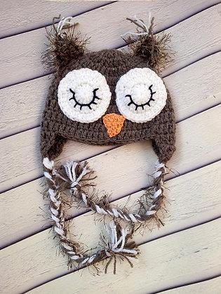 Brown owl hat
