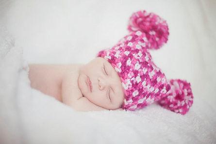 נסרגים לפי מידת היקף ראש מאקריליק רך ונעים למגע המתאים לתינוקותאביזרים לצילום תינוקות