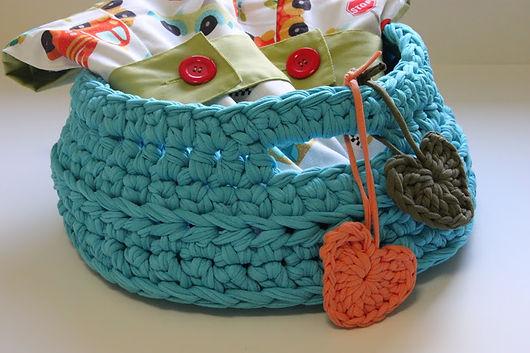 Resicled Cotton yarn crochet Basket