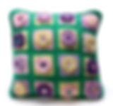 100% cotton crochet granny square pillow