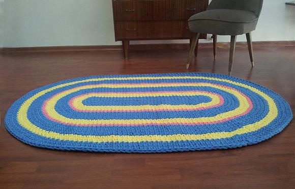 שטיח סרוג אליפסה