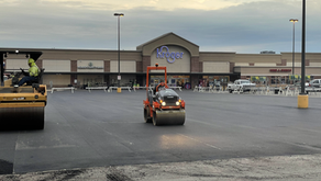 Kroger parking lot being repaved