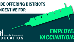 KDE to reimburse public school districts for incentives for vaccinated employees