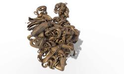 Abstrack Wooden Heart 3D