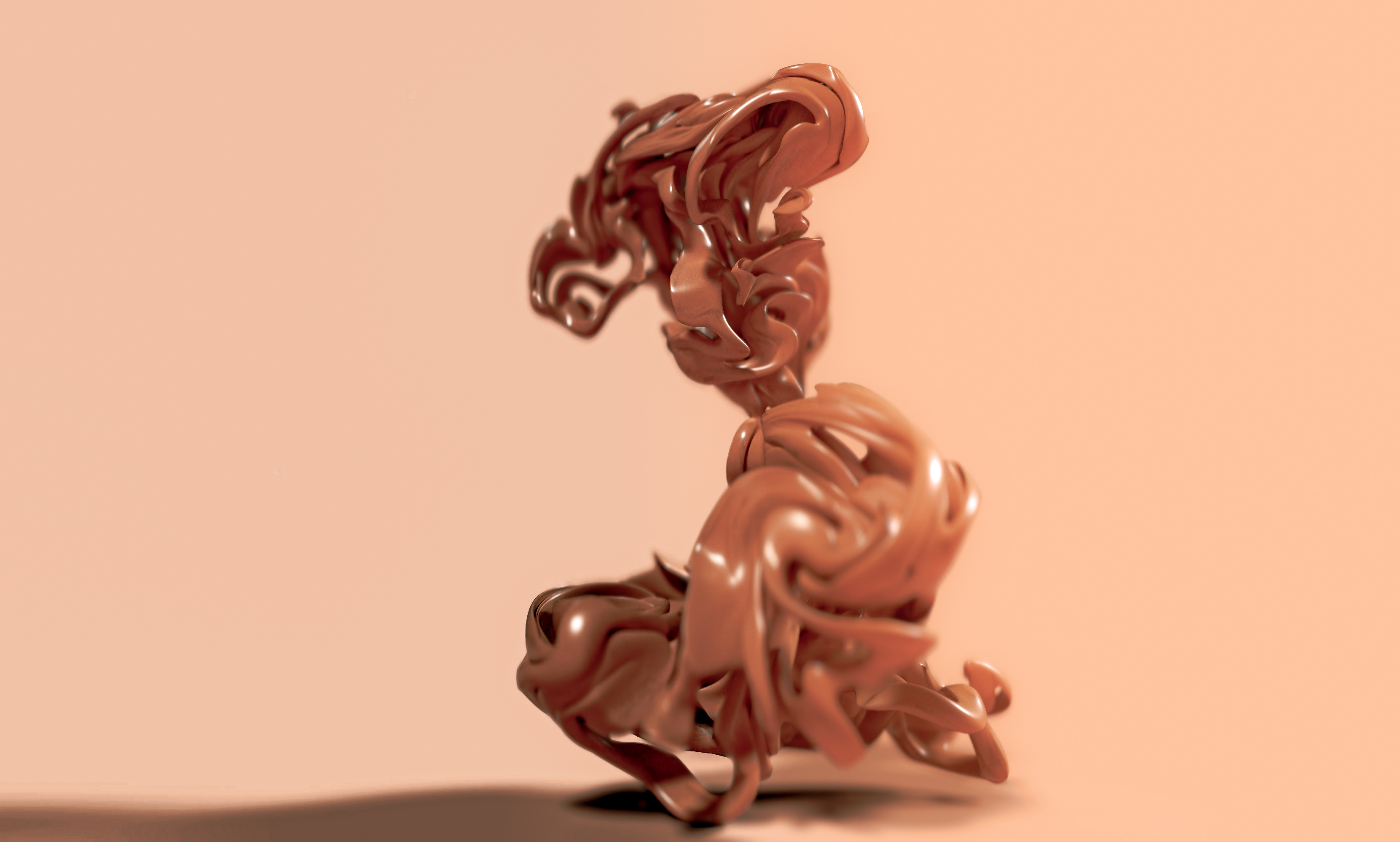 Abstract Sculpture Wood 3D