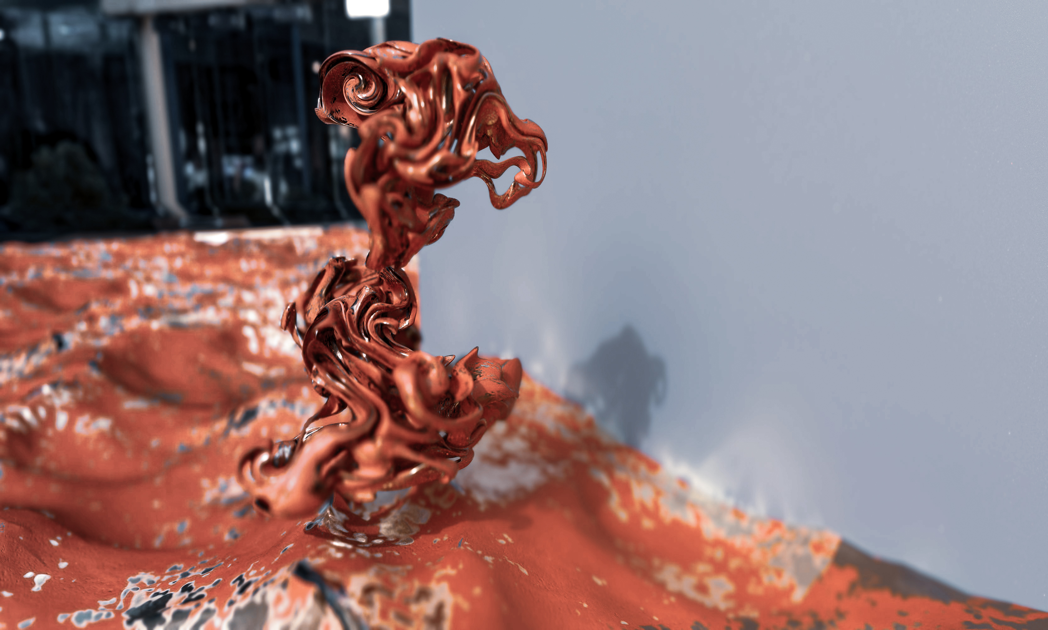 Abstract Sculpture Metal 3D
