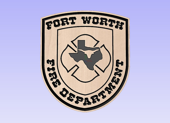 Fort Worth Fire Department Plaque