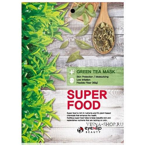 ქსოვილის ნიღაბი Eyenlip Super Food Green Tea Mask (1ea)