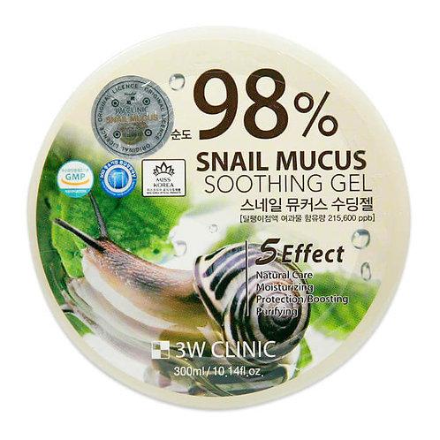 მრავალფუნქციური გელი  3W Clinic Snail Soothing Gel 98% (300 ml)