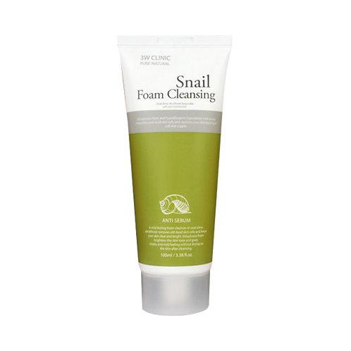სახის ქაფი 3W Clinic Snail Foam Cleansing (100 ml)