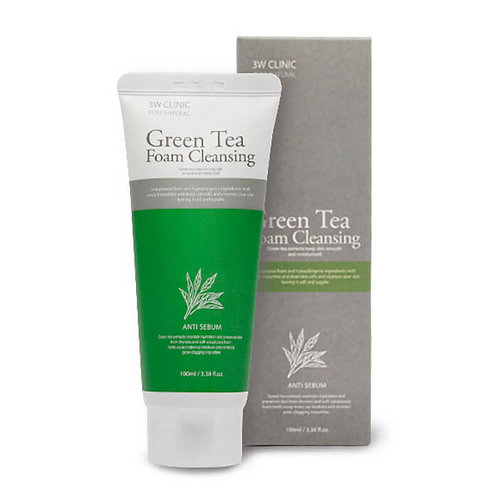 3W Clinic Green Tea Foam Cleansing (100 ml)