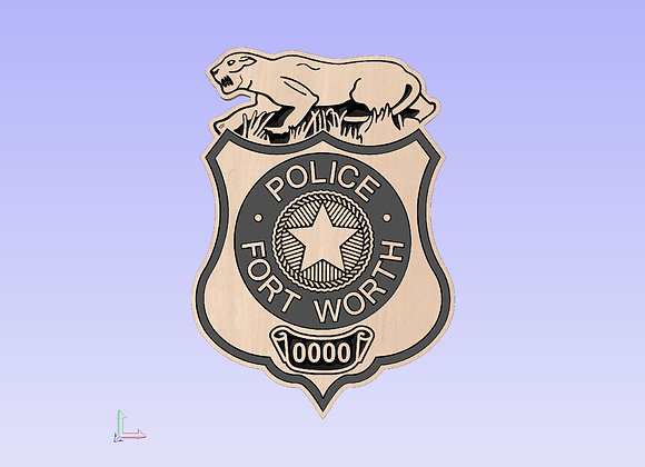 Fort Worth Police Badge Plaque