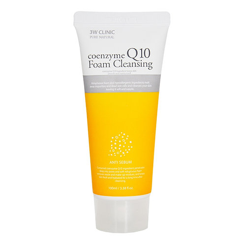 ქაფი 3W Clinic Coenzyme Q10 Foam Cleansing (100 ml)
