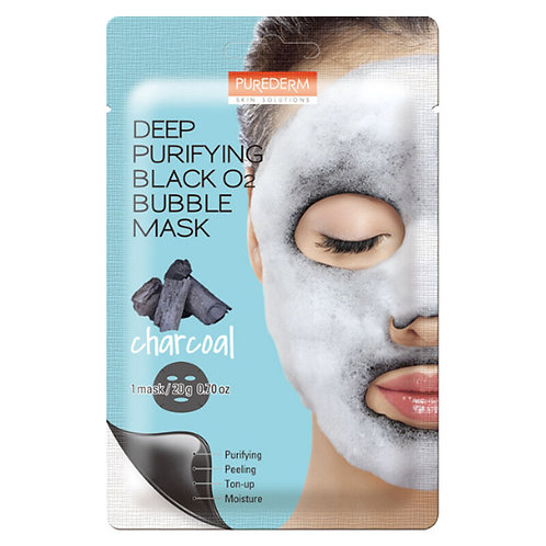 Purederm Deep Purifying Black O2 Bubble Mask Charcoal (1 ea)