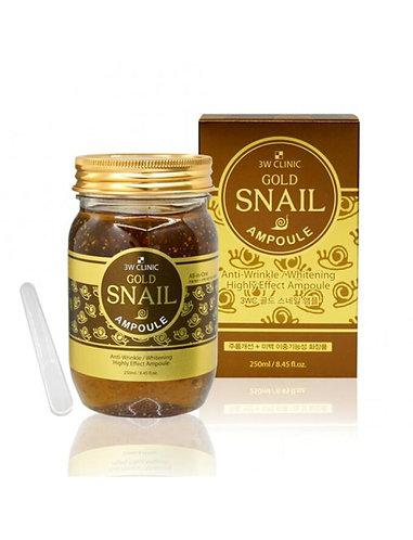 სახის შრატი 3W Clinic Gold Snail Ampoule (250 ml)