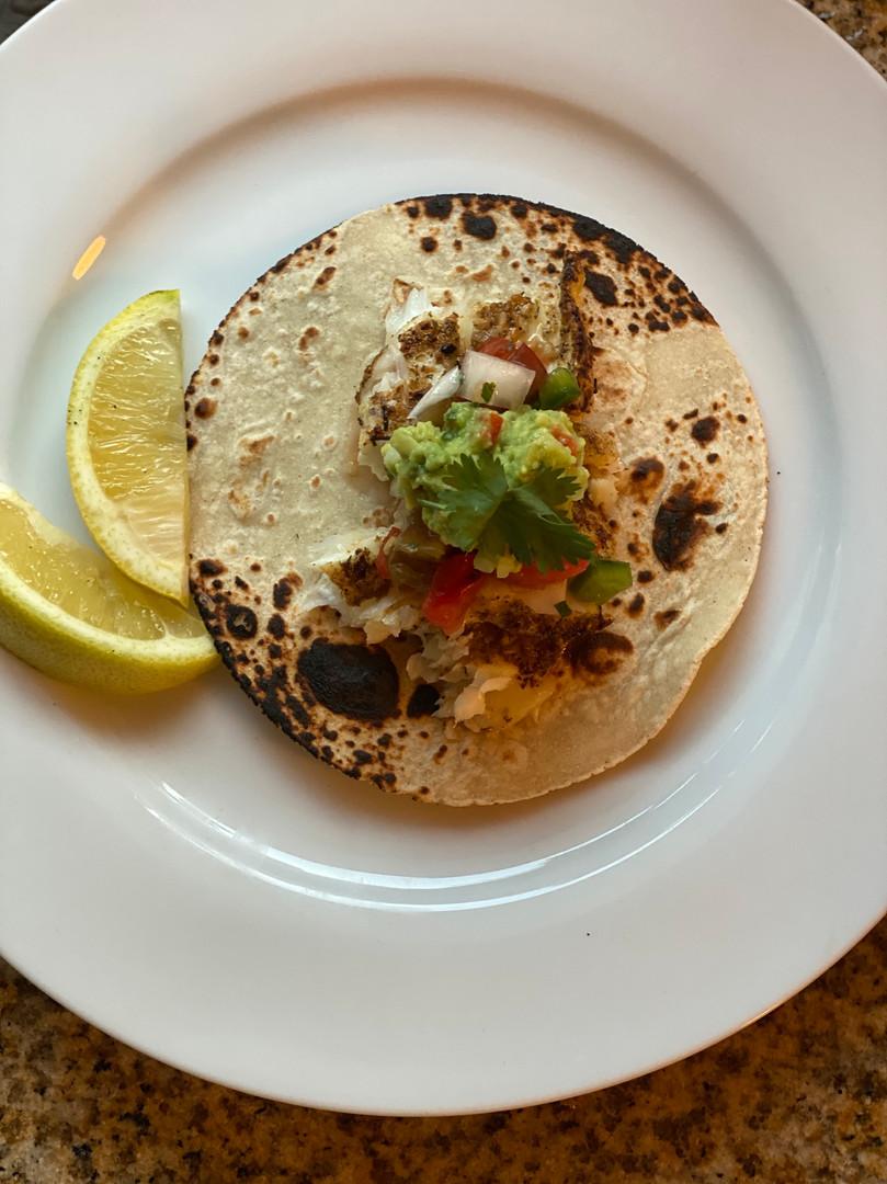 Grilled Halibut Tacos