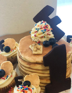 Pancake Cake and Cupcakes