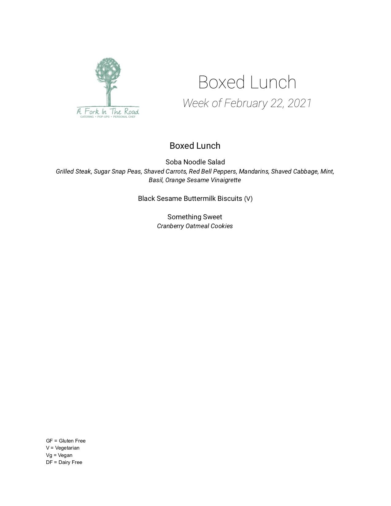 Lunch Week of 2_22