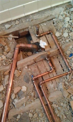 """1 1/2"""" copper """"DWV"""" drain line"""