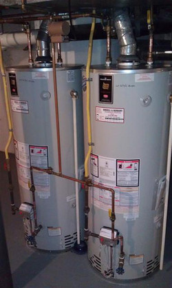Gas and electric water heaters