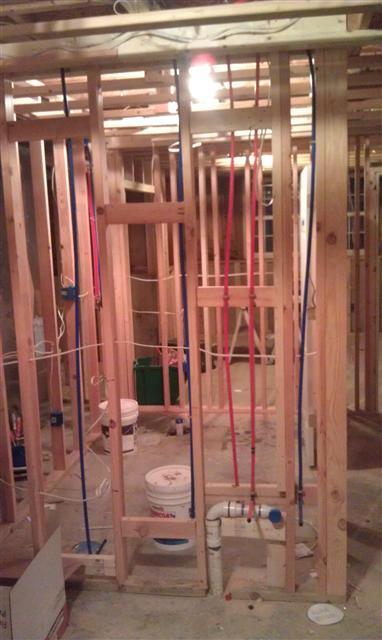 PEX as well as copper piping install