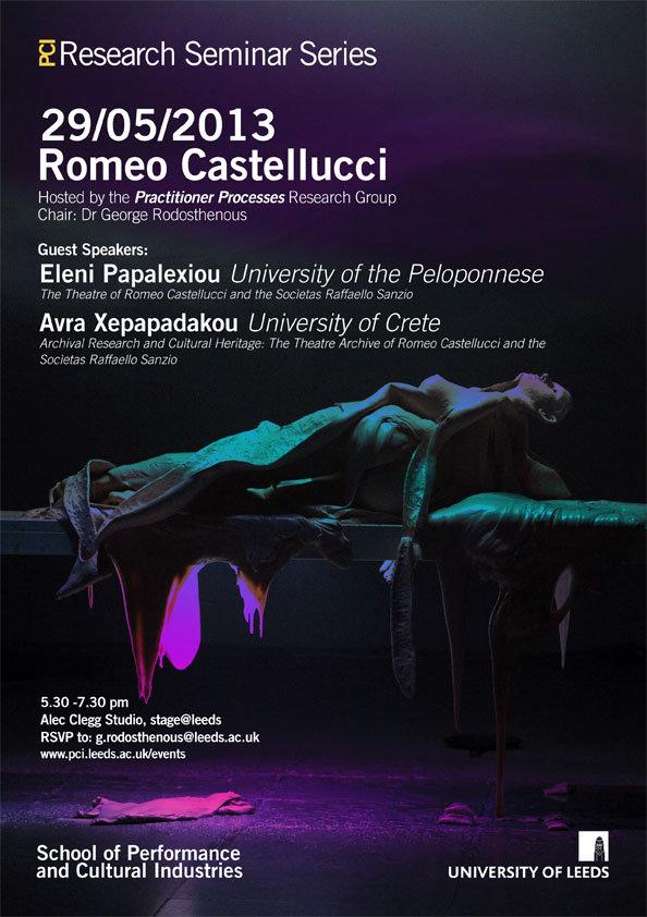 """E. Papalexiou, """"The Theatre of Romeo Castellucci and Socìetas Raffaello Sanzio"""""""