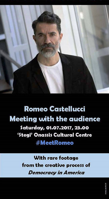 Romeo Castellucci   Meeting with the audience Onassis Cultural Centre, Athens, July 1, 2017