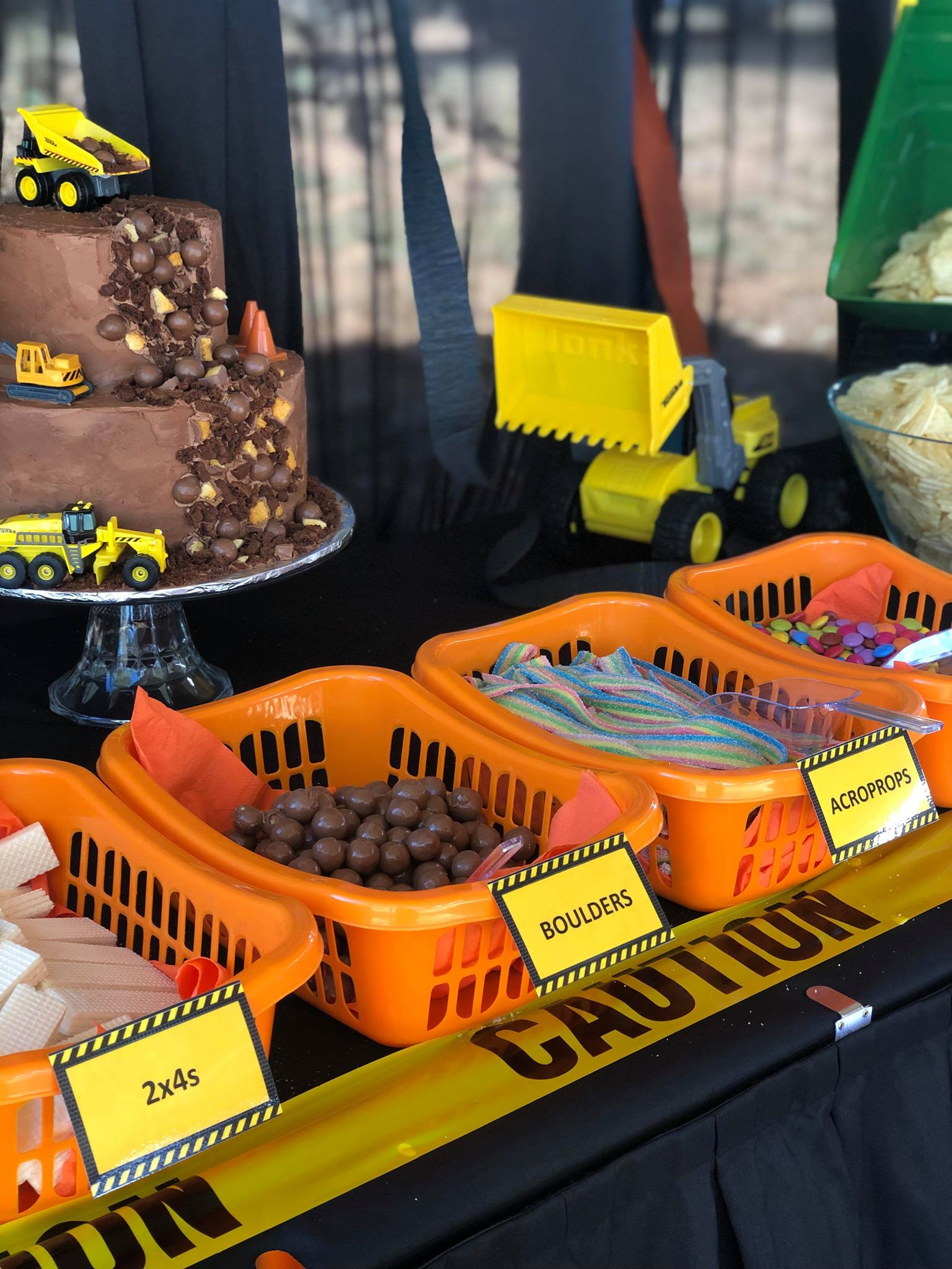 Construction themed 1st birthday