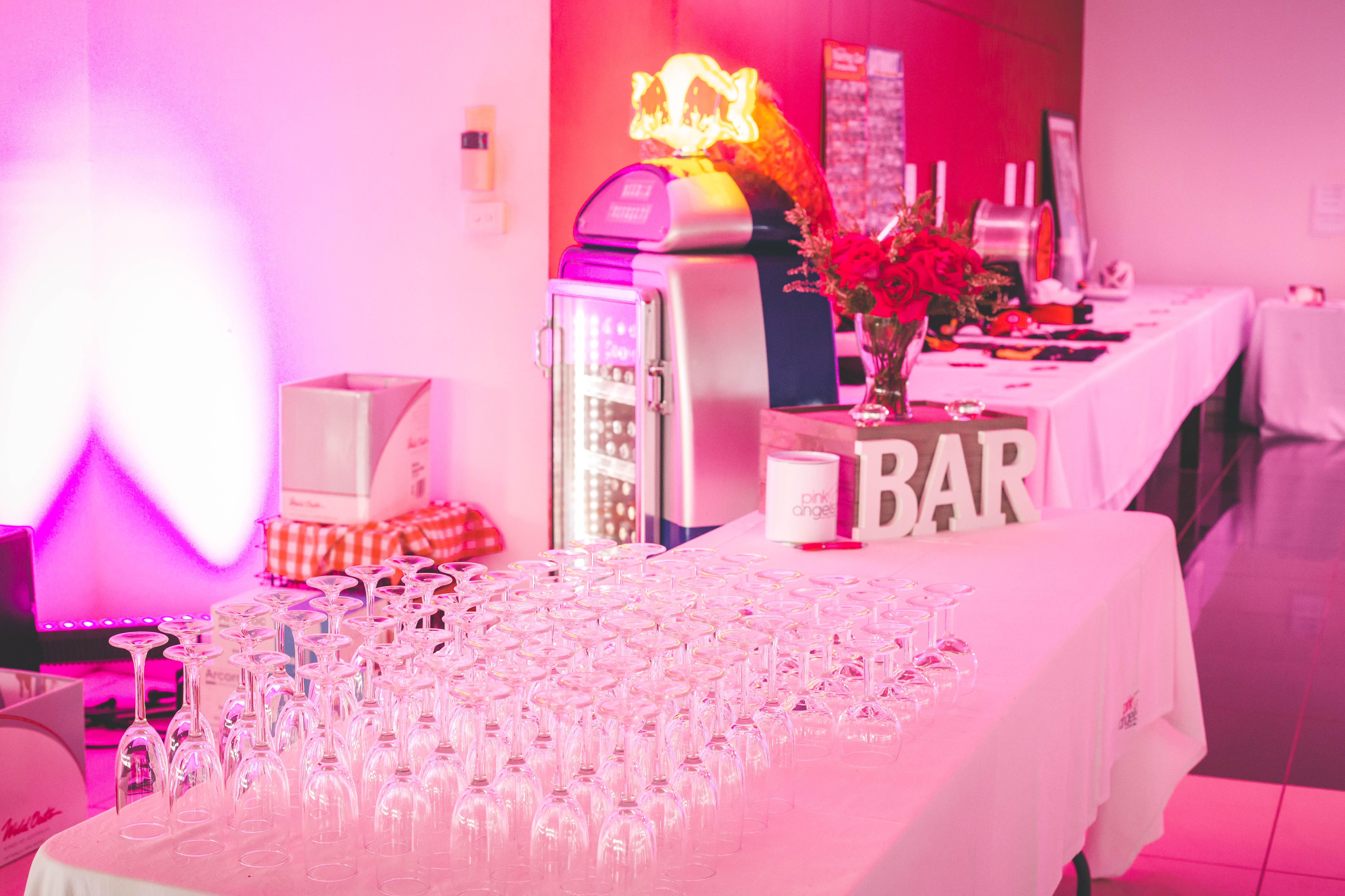 Bar-pink angels event