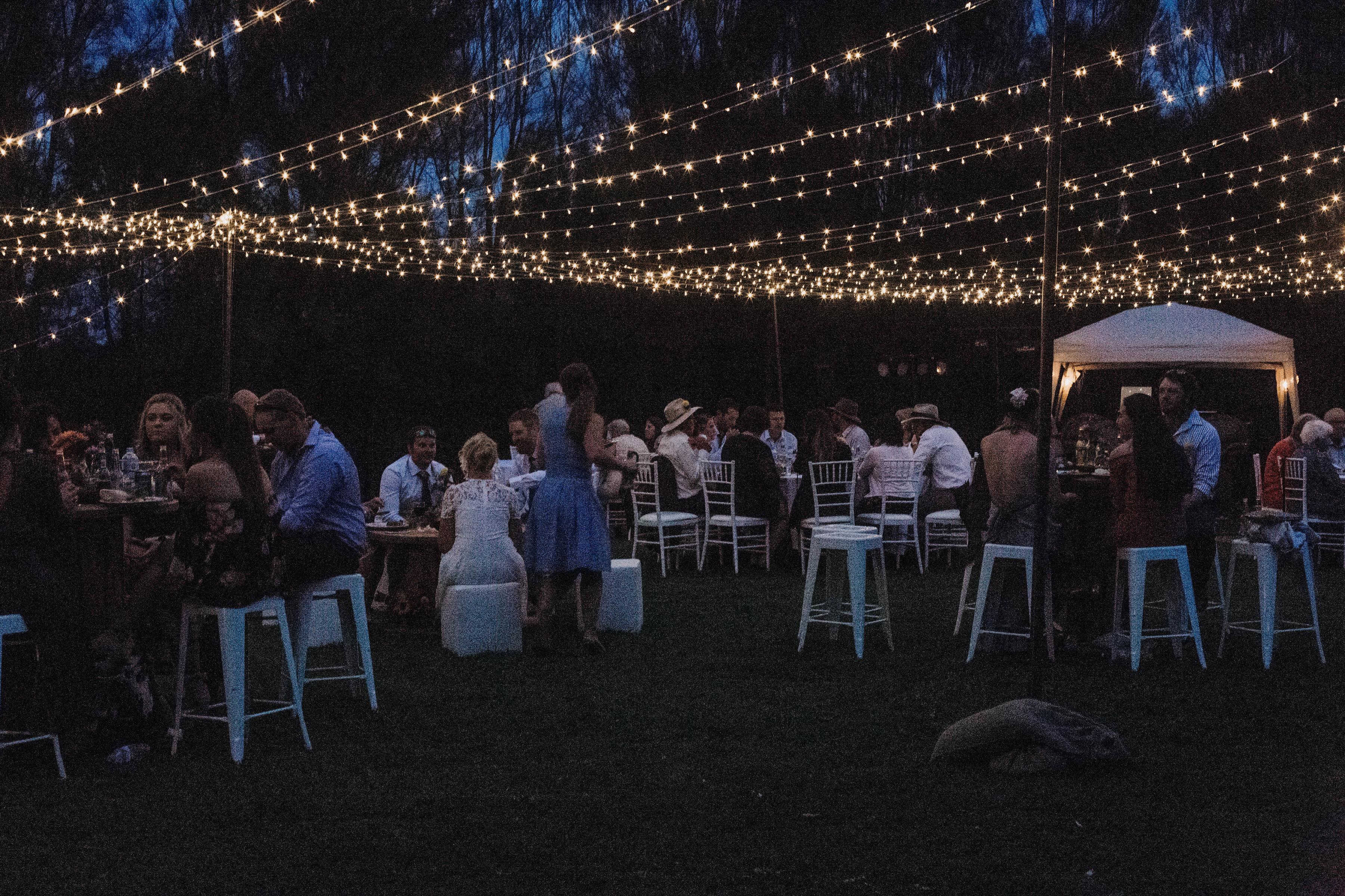 Under the stars wedding reception