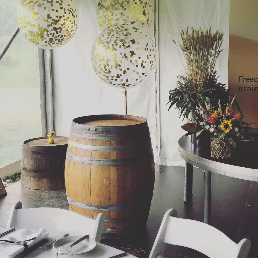 Wine barrels for decor