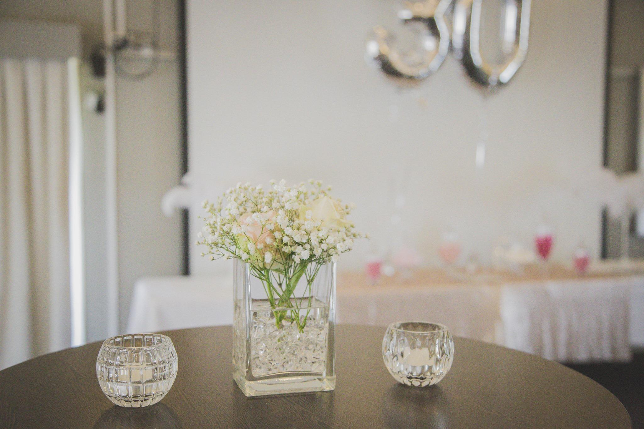 Cocktail table decor.