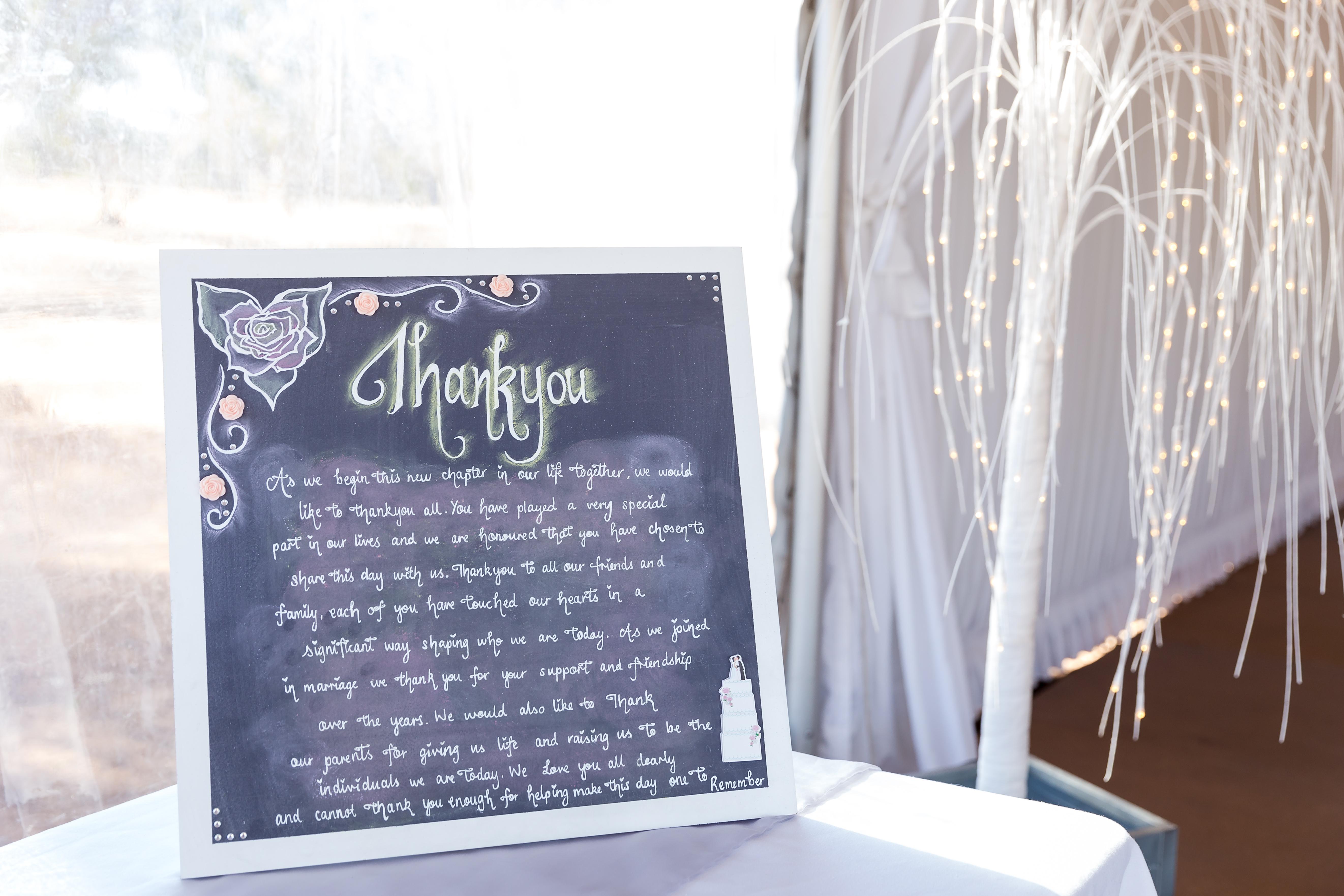 Wedding Thankyou Sign