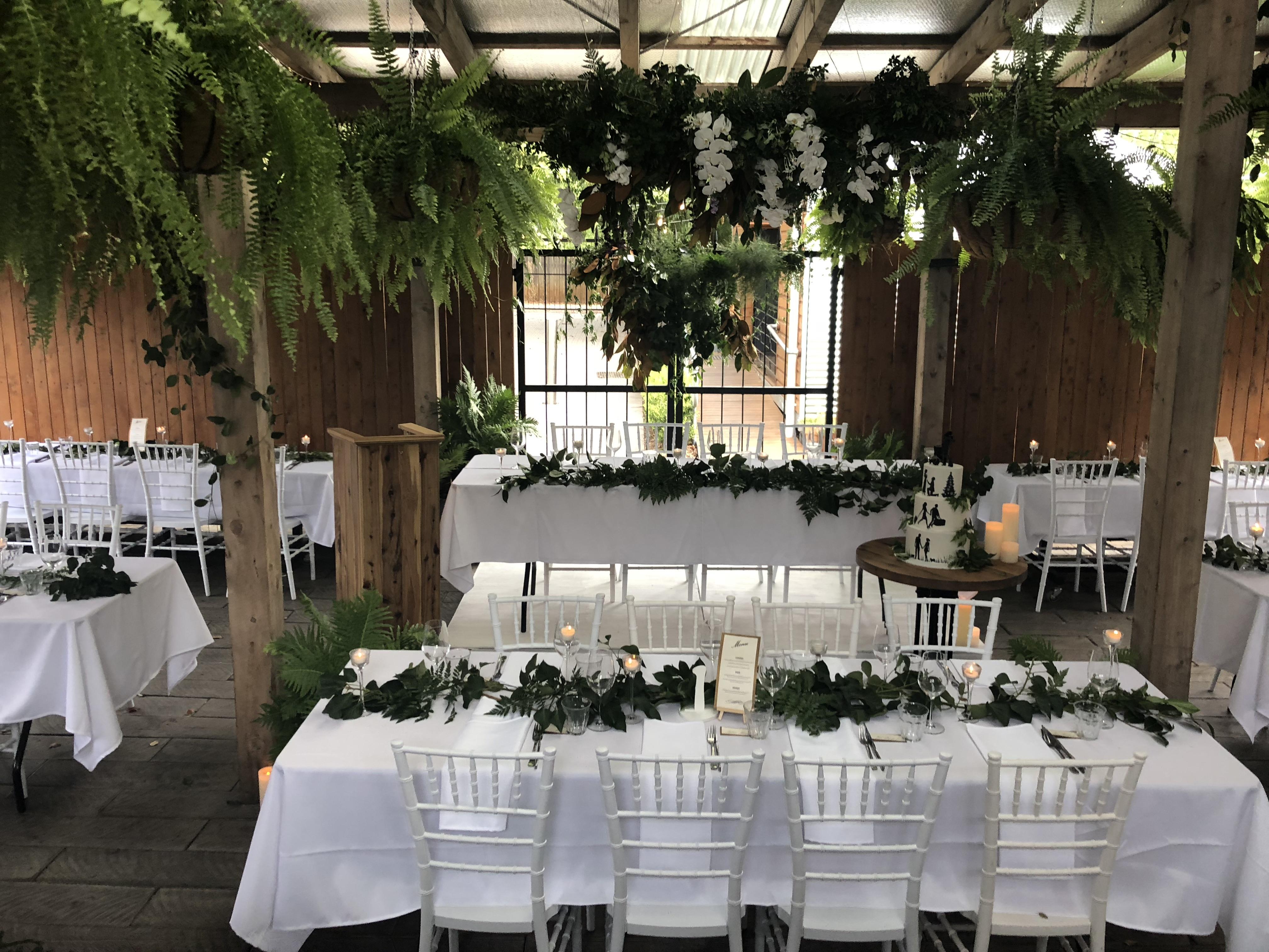 Secret garden theme wedding receptio
