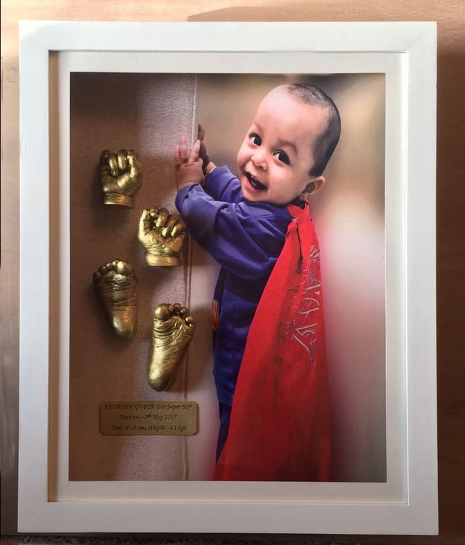 Beautiful hands n feet casting frame for Ist birthday - Reyansh Gupta
