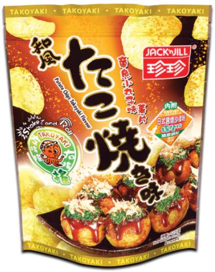 珍珍Shake Shake 薯片 章魚小丸子味 52.5G