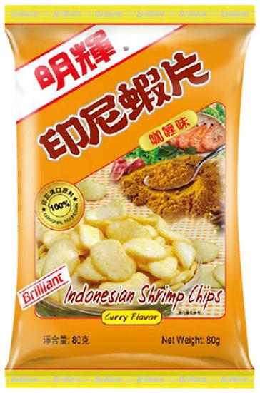 明輝蝦片 咖哩味 80G