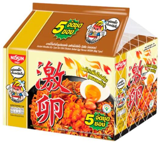 (泰國)日清 韓式激辣鹹蛋撈麵 60G 【1包/5包】