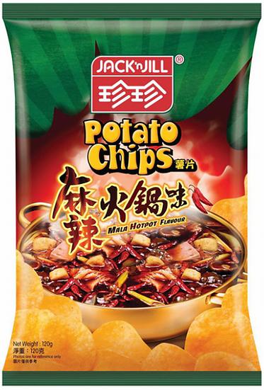 珍珍薯片 麻辣火鍋味 120G