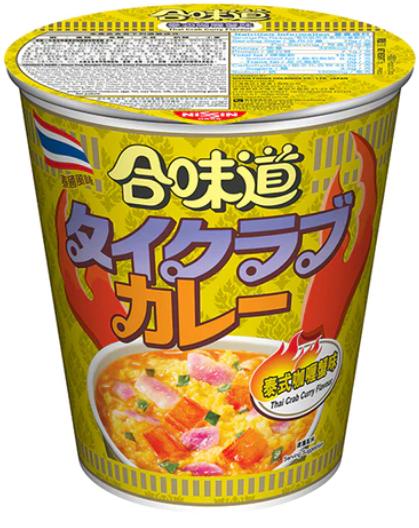 日清 合味道 泰式咖喱蟹味杯麵 75G