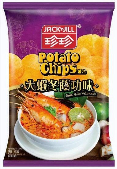 珍珍薯片 大蝦冬蔭功味 120G